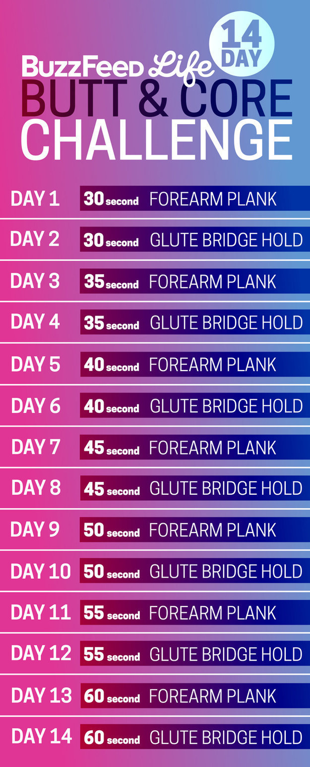butt and core workout challenge
