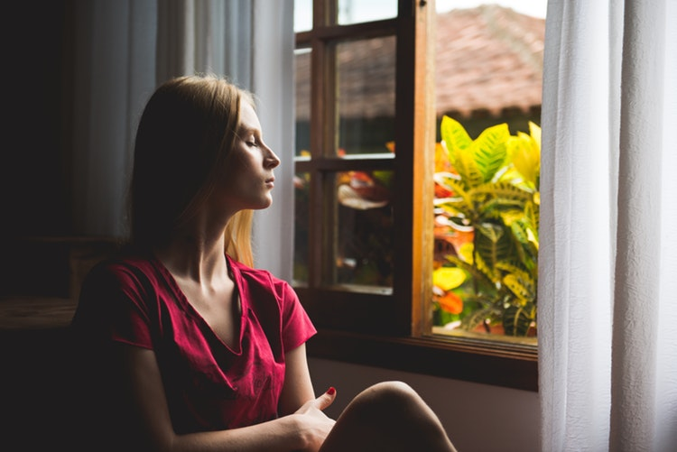 meditation for beginners - sit by a window